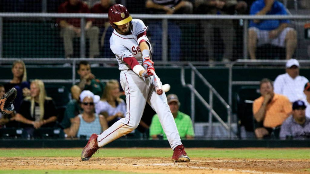 Busby's 4 RBI Lead Baseball Past Miami, 6-3