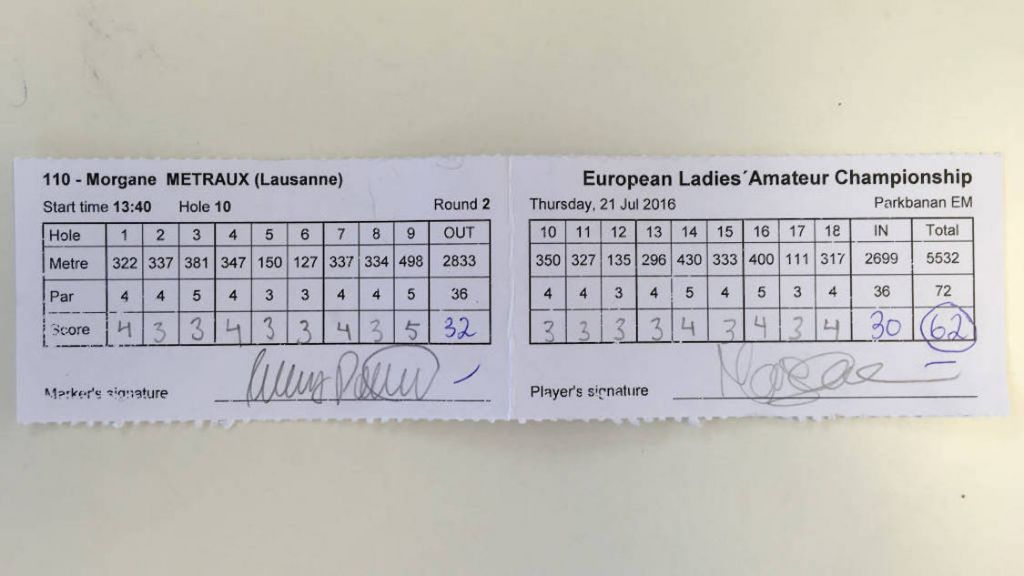 Seminoles' Metraux Shoots 62 at European Ladies Amateur