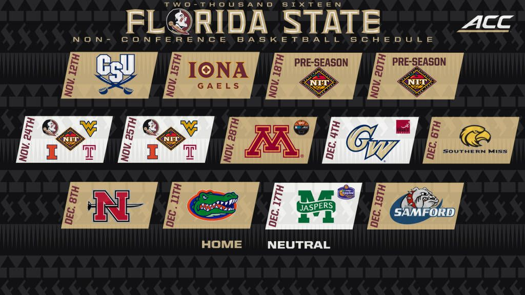 Seminoles Release Non-Conference Basketball Schedule