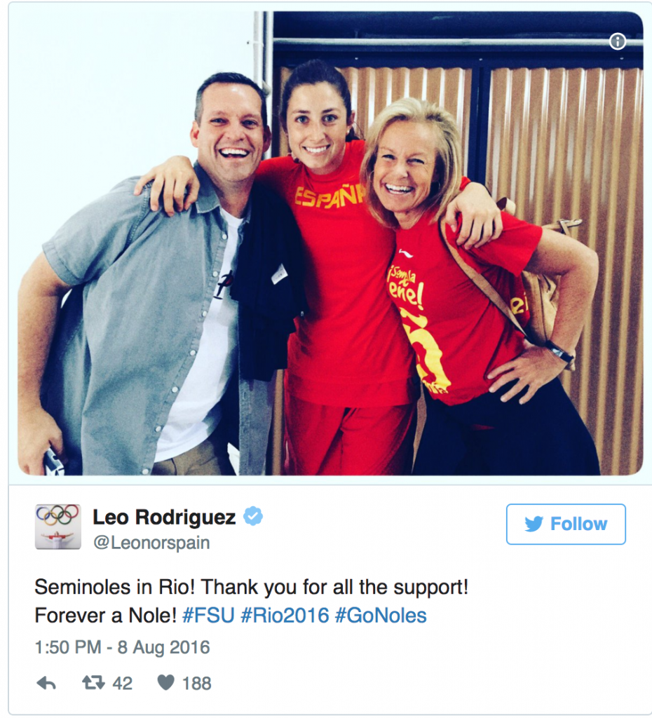 Former Nole Rodriguez Relishing Time In Rio