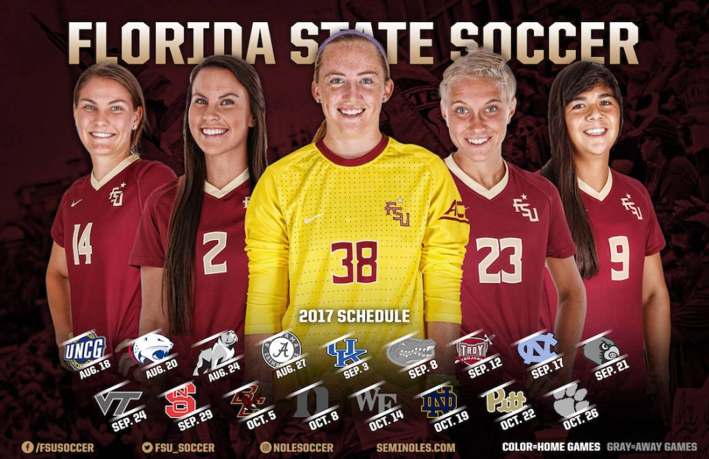 2017 Florida State Soccer Schedule Announced