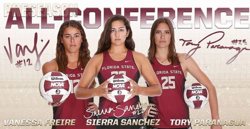 Trio of Beach Noles Grab CCSA Preseason All-Conference Honors