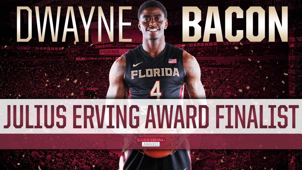 Bacon Named Top 10 Finalist For Julius Erving Award