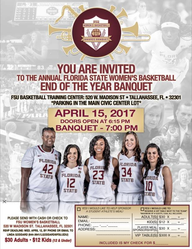 Women's Hoops Banquet on April 15