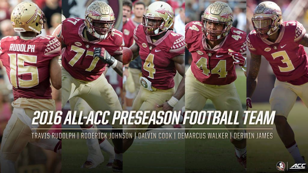 Five Noles Named To Preseason All-ACC Football Team