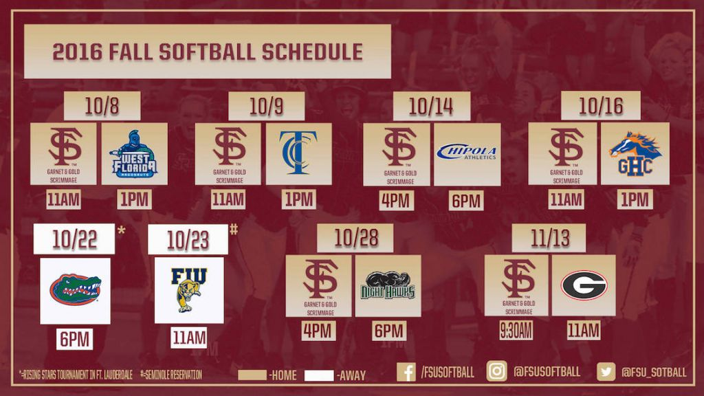 Softball Announces 2016 Fall Schedule