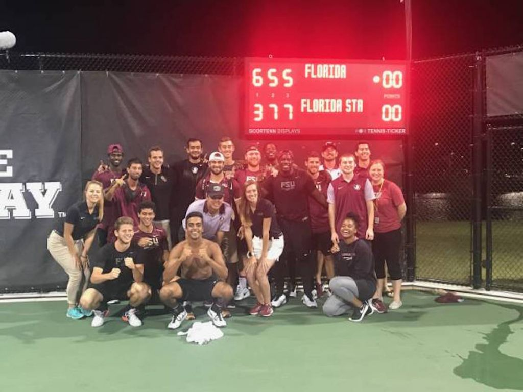 NOLES WIN! Men's Tennis Defeats Florida in Front of Record Crowd