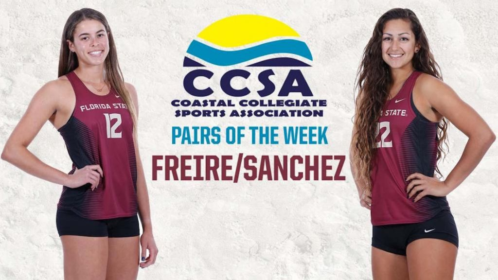 Freire/Sanchez Earn First CCSA Pairs of the Week Honor