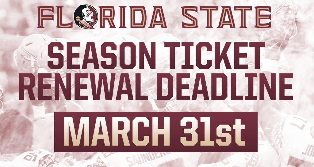 FSU Football Season Ticket Renewal Deadline Is March 31