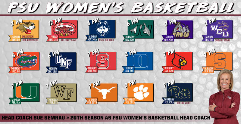 Women's Basketball Releases ACC Schedule