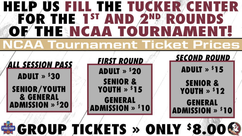 FSU Athletics Ticket Office Taking NCAA Tourney Requests