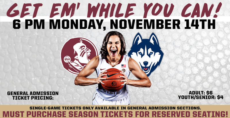 FSU Athletics Offering UConn Presale
