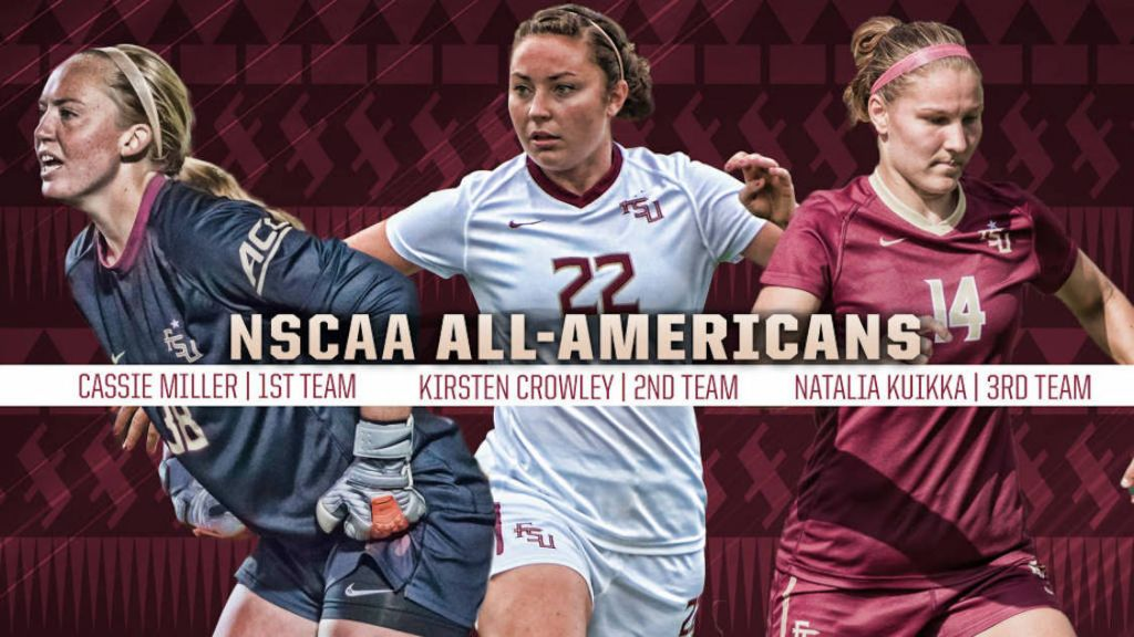 FSU Trio Earn NSCAA All-American Honors