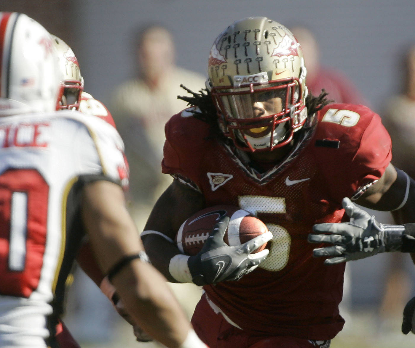 Florida State running back Preston Parker runs for fourth-quarter yardage.