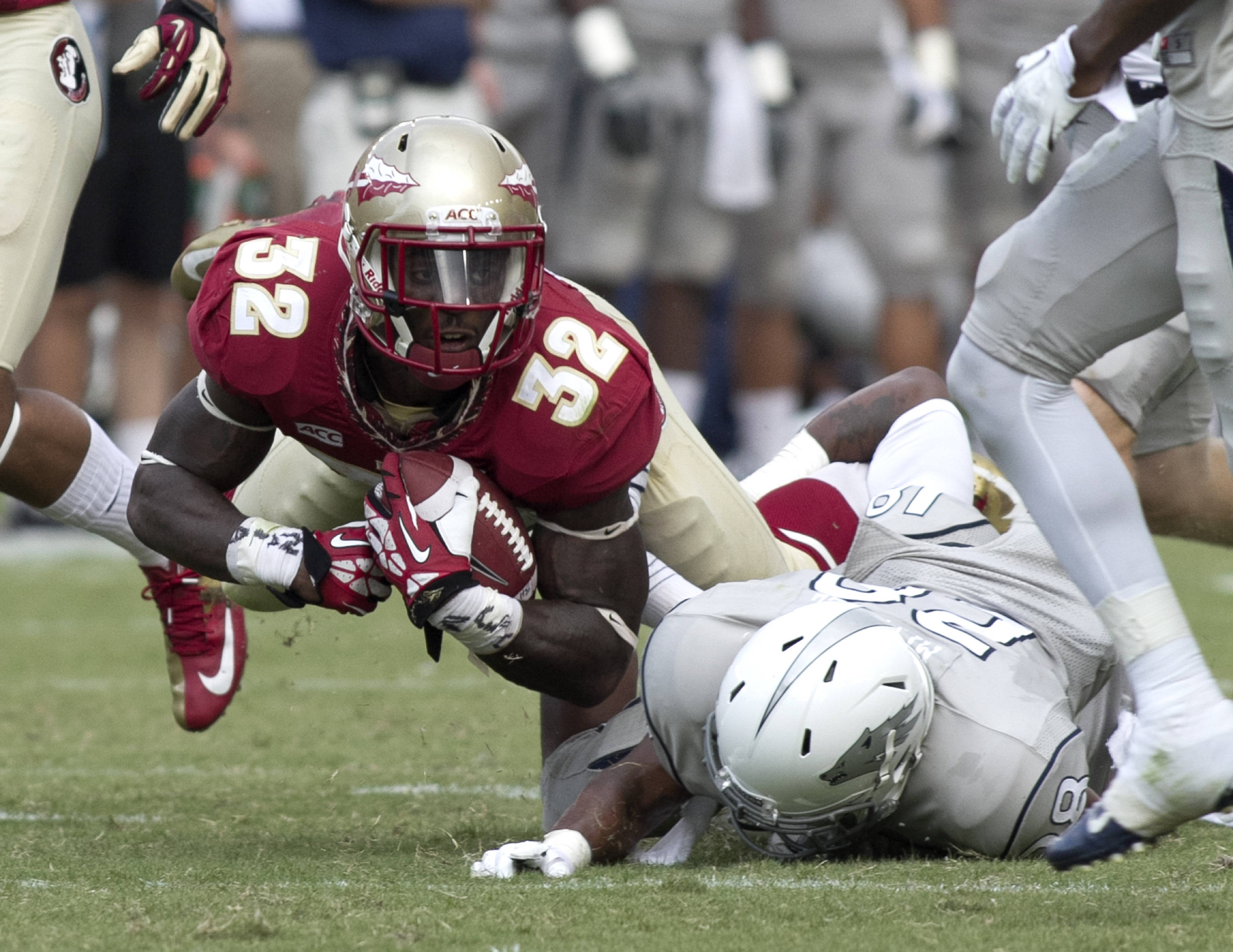 James Wilder, Jr. (32), FSU vs Nevada,  9-14-13, (Photo by Steve Musco)