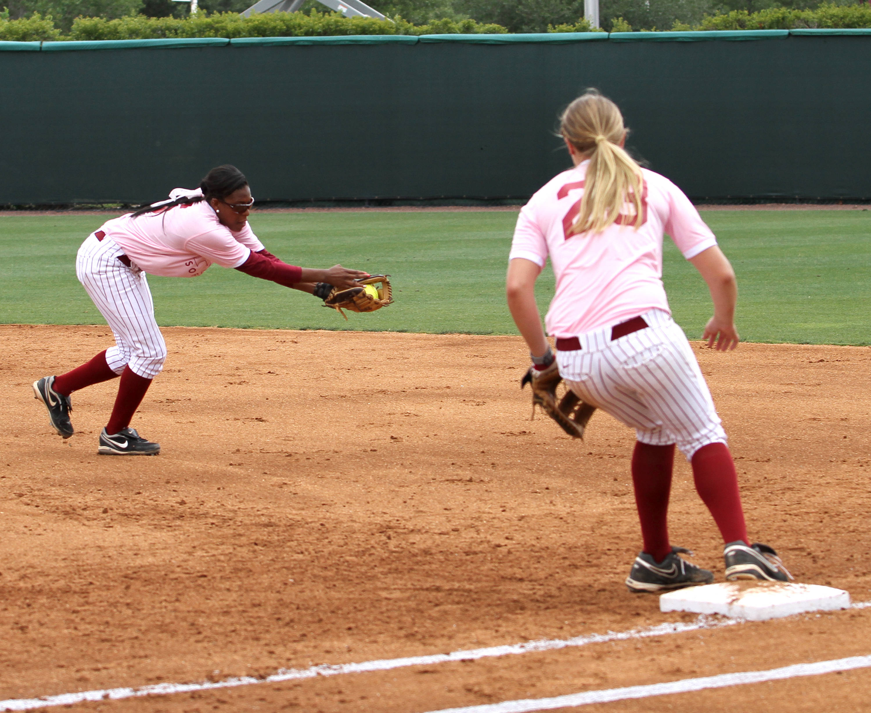 Tiffani Brown, Kelly Hensley, FSU vs GT,  04/15/2012