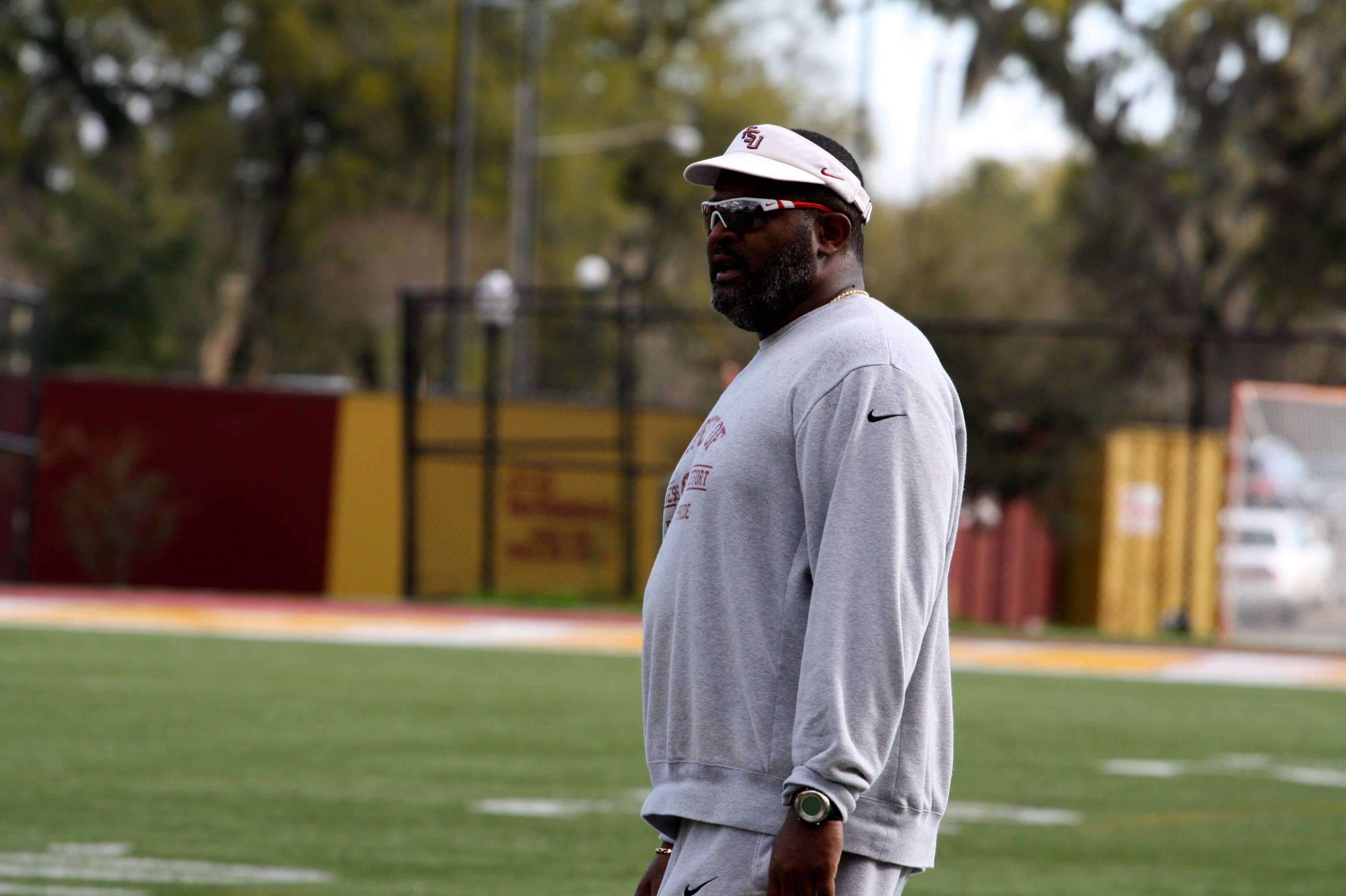 Defensive tackles coach Odell Haggins