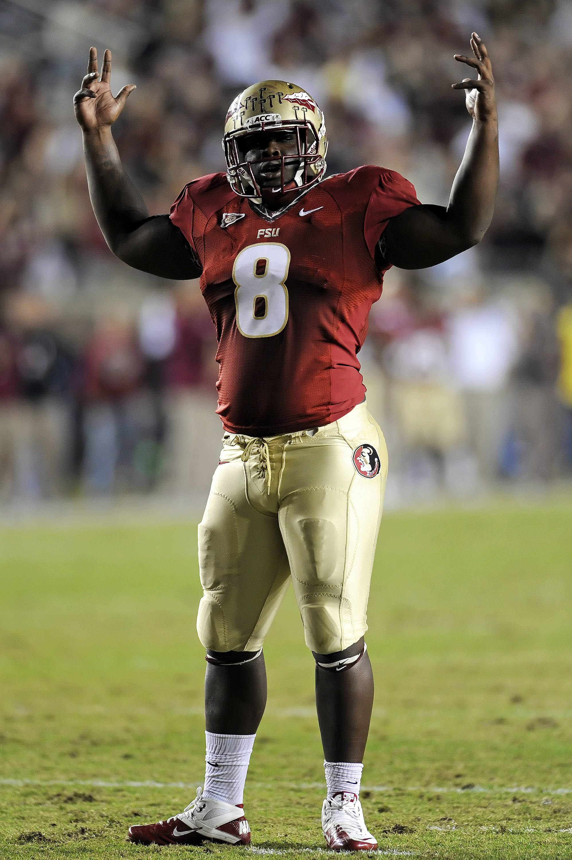 Timmy Jernigan (8) was a freshman All-American in 2011 and become a crowd favorite in Tallahassee.  He is poised for great things during the remainder of his Seminole career.