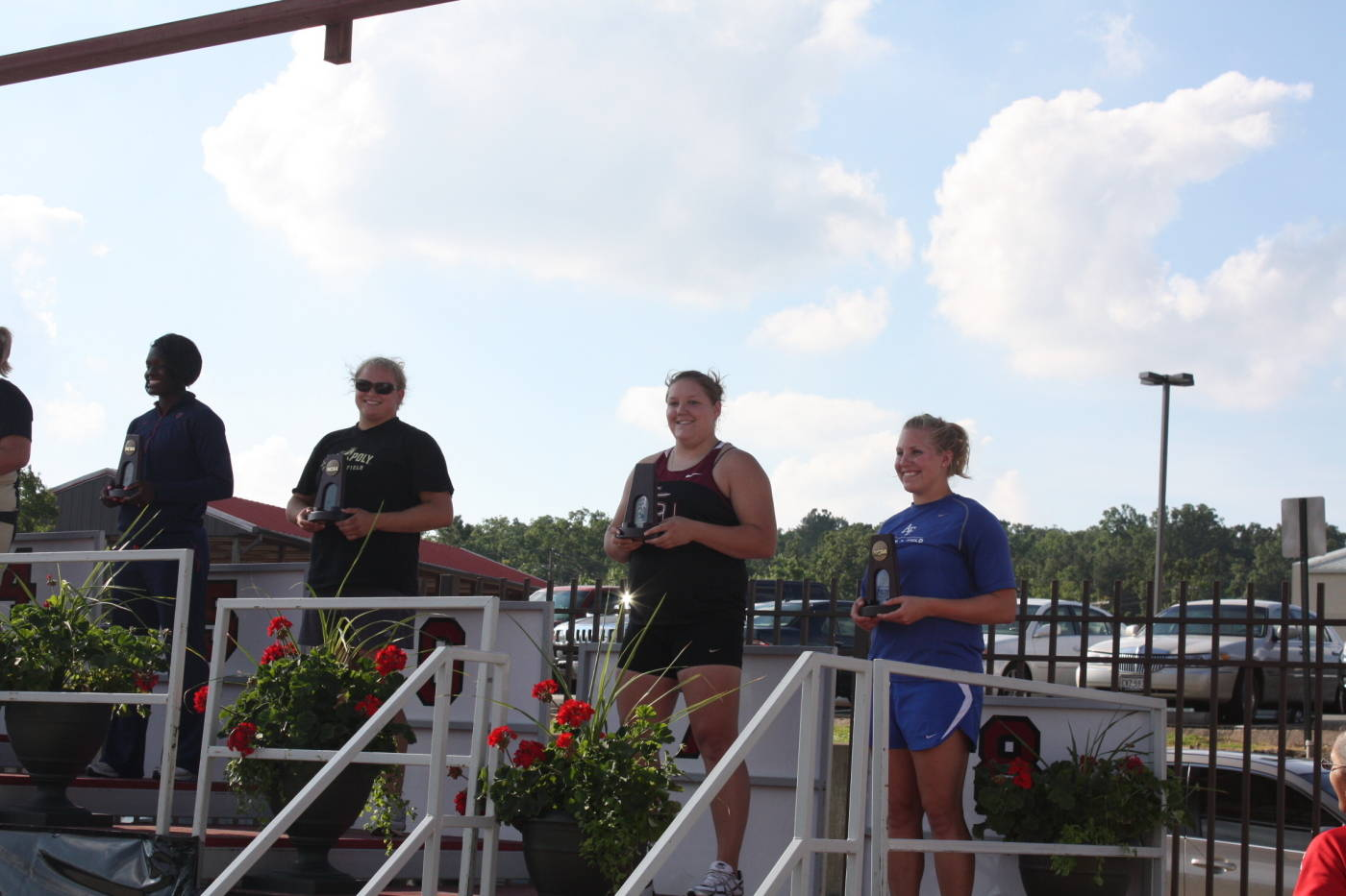 Allyn Laughlin on the medal stand.