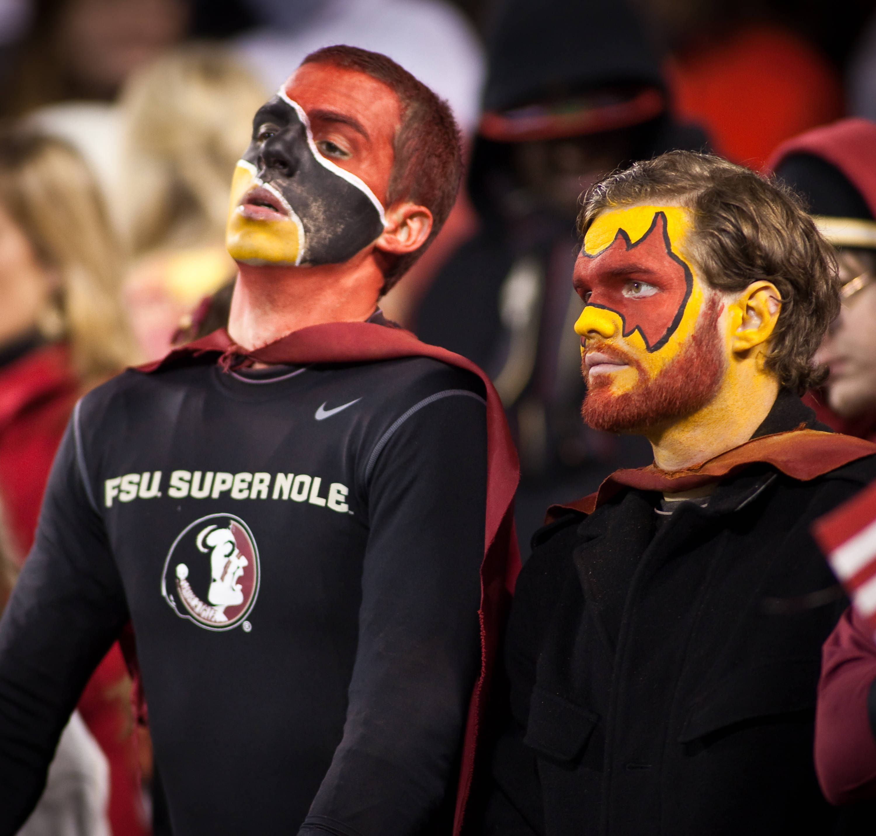 The Super Noles look on in the fourth quarter.