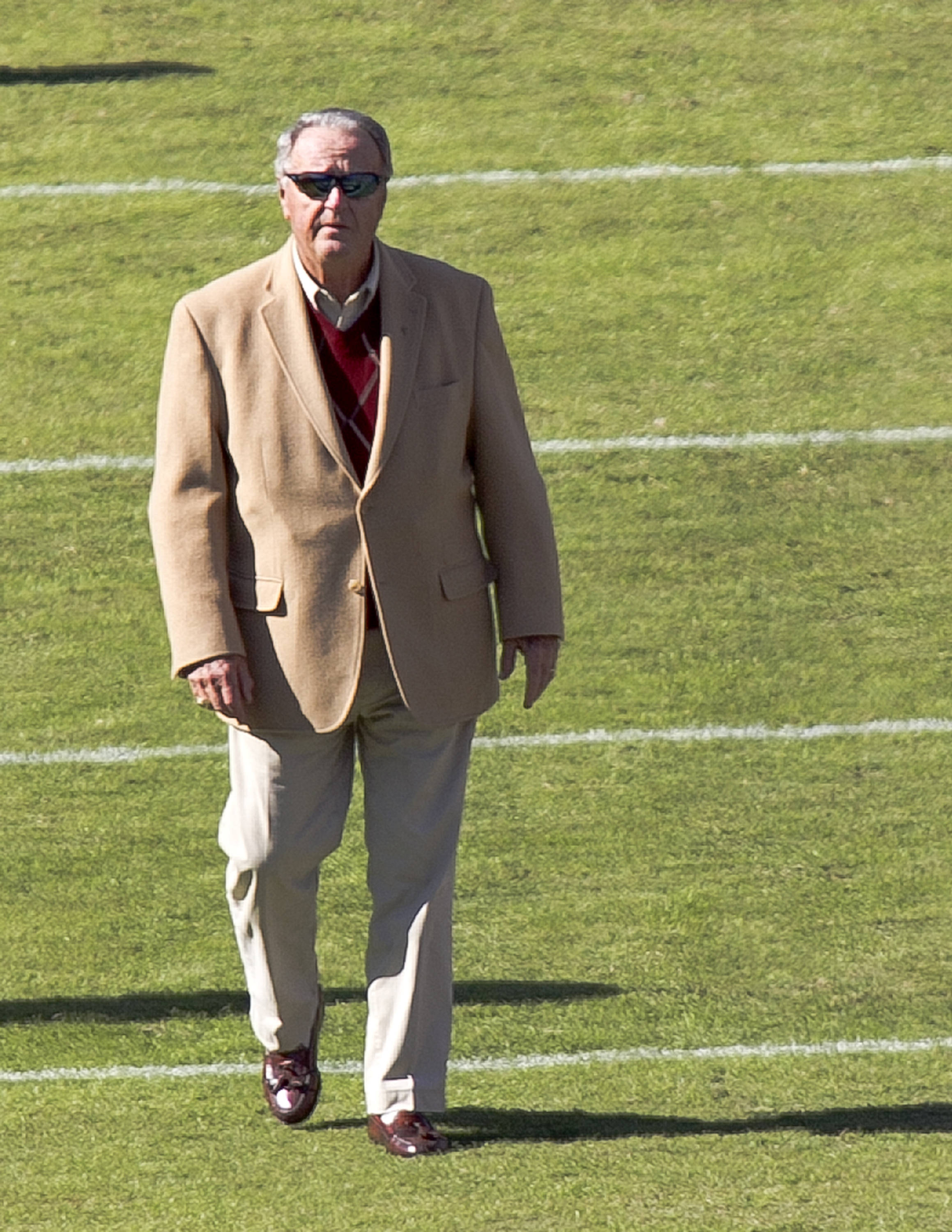 Coach Bobby Bowden, FSU vs NC State,  10-26-13, (Photo by Steve Musco)