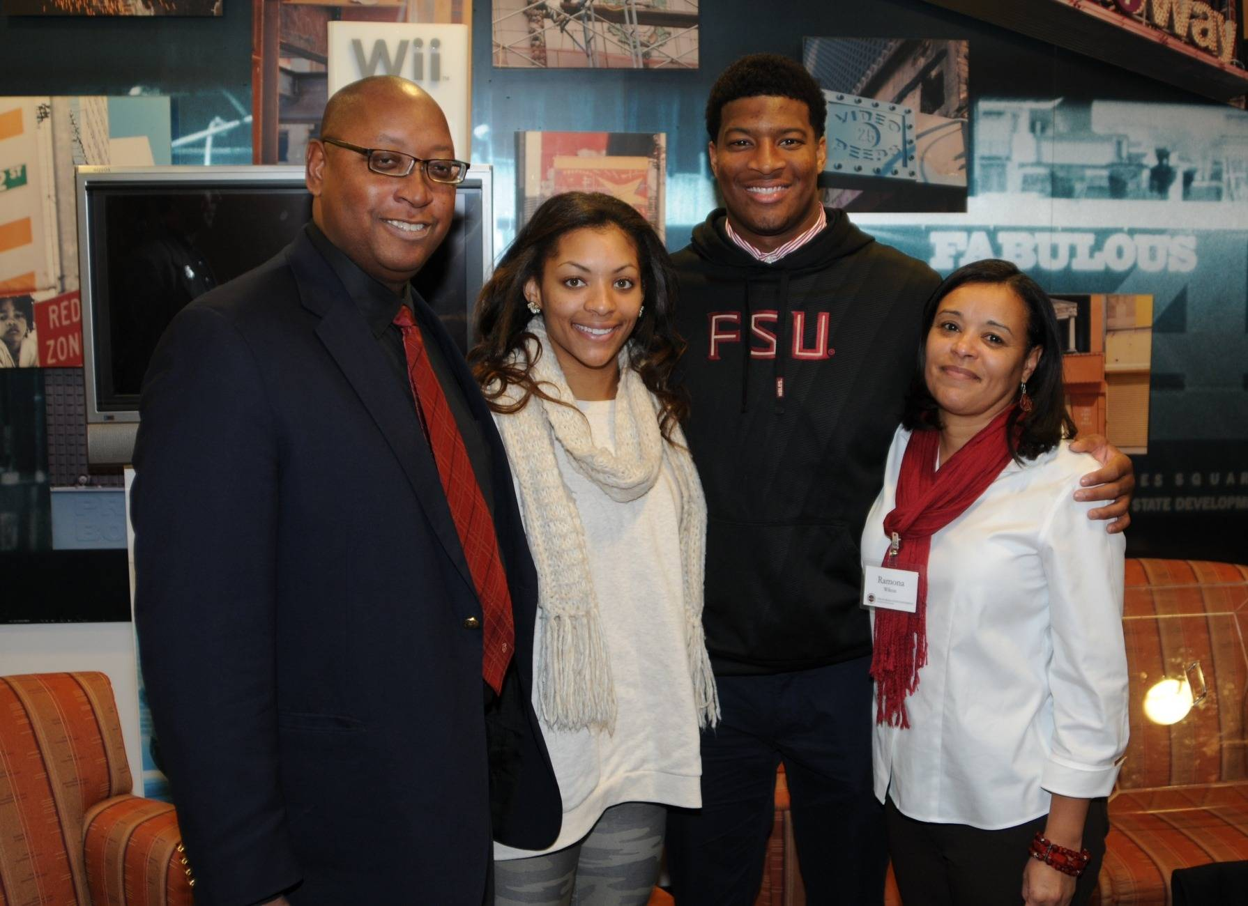 Director of Athletics Stan Wilcox with Jameis Winston (Photo by Jeff Romance)