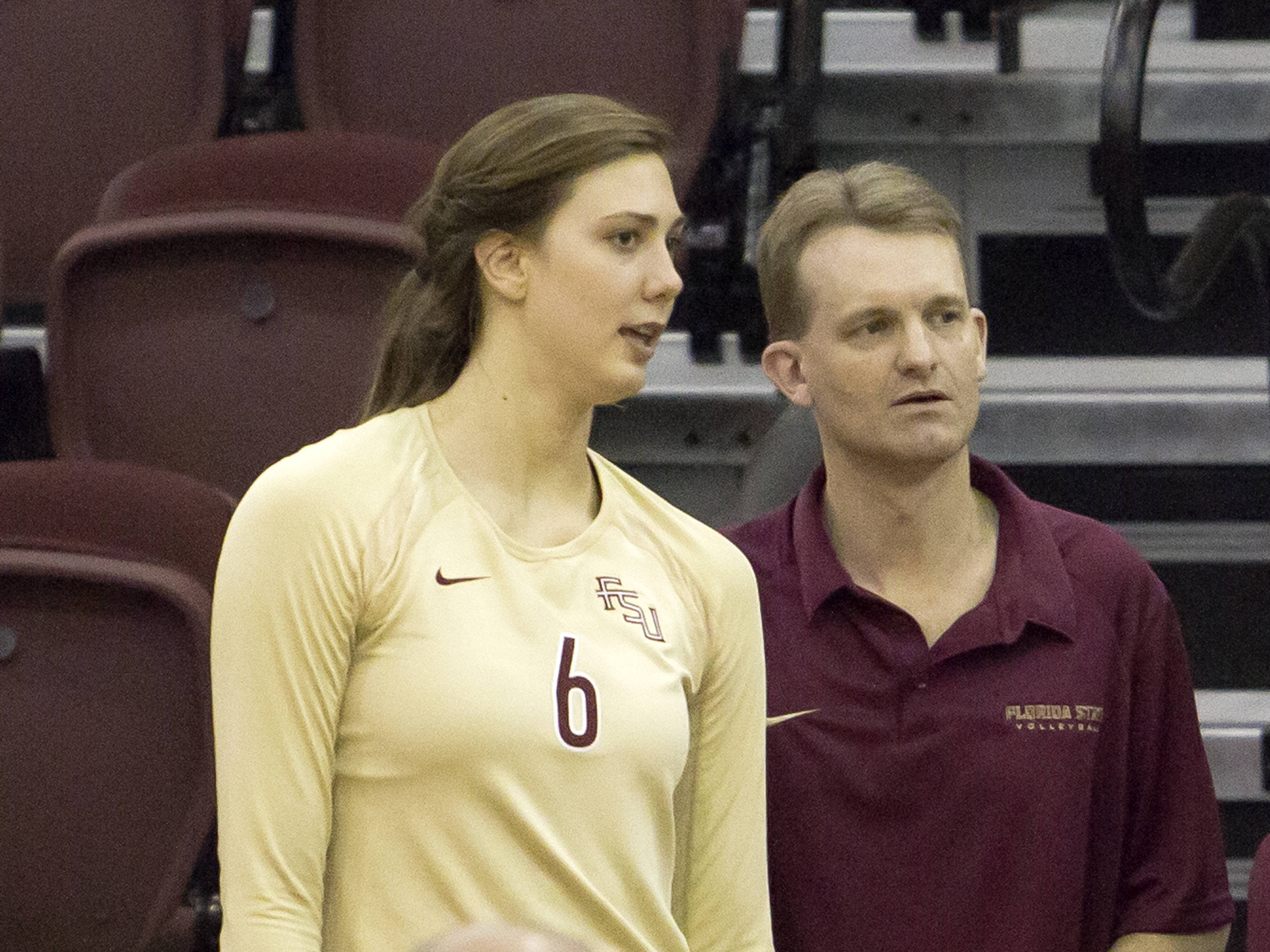 Head Coach Chris Poole, Sarah Burrington (6)