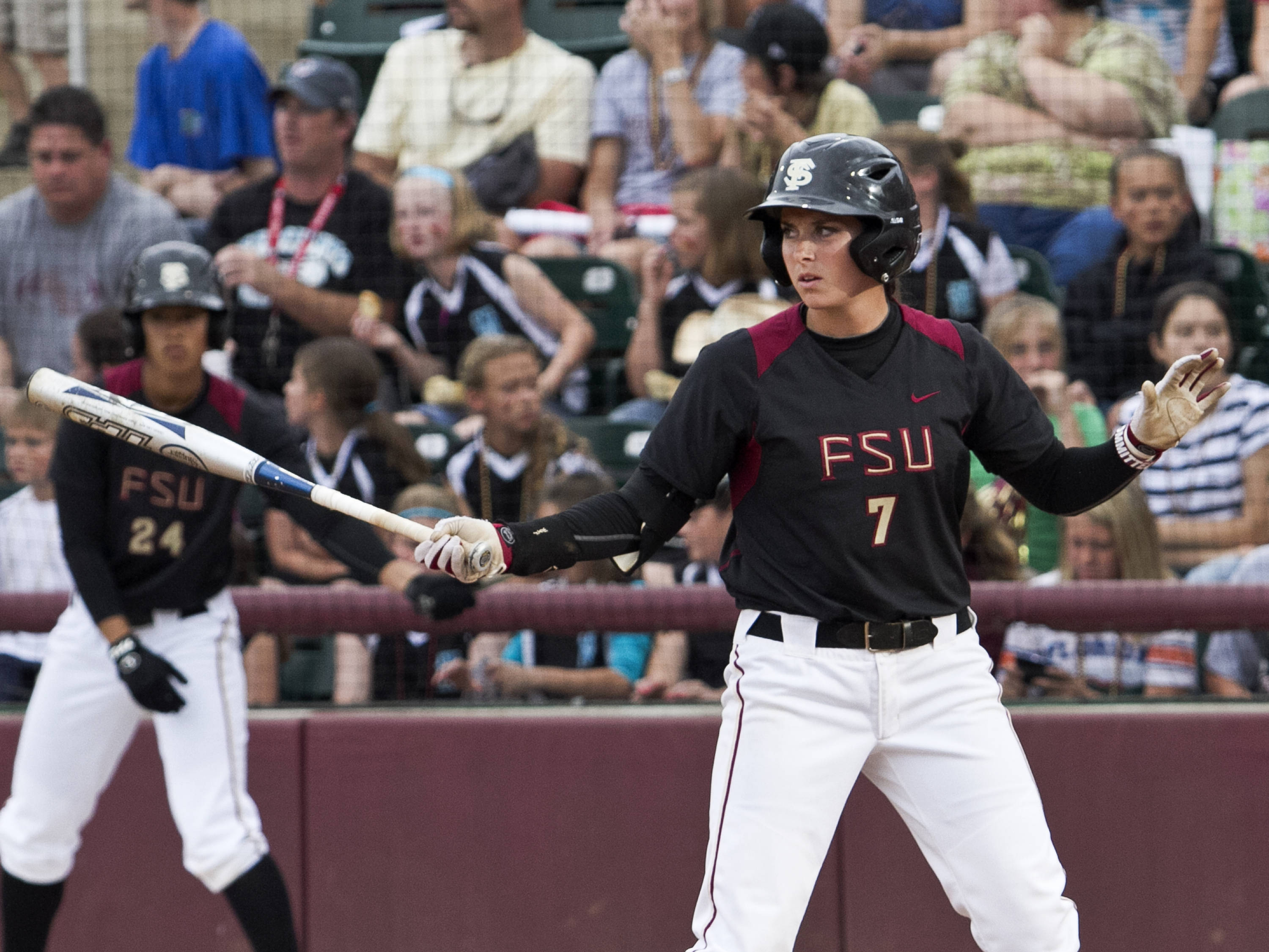 Maddie O'Brien, FSU Softball vs FLA  04/02/2012