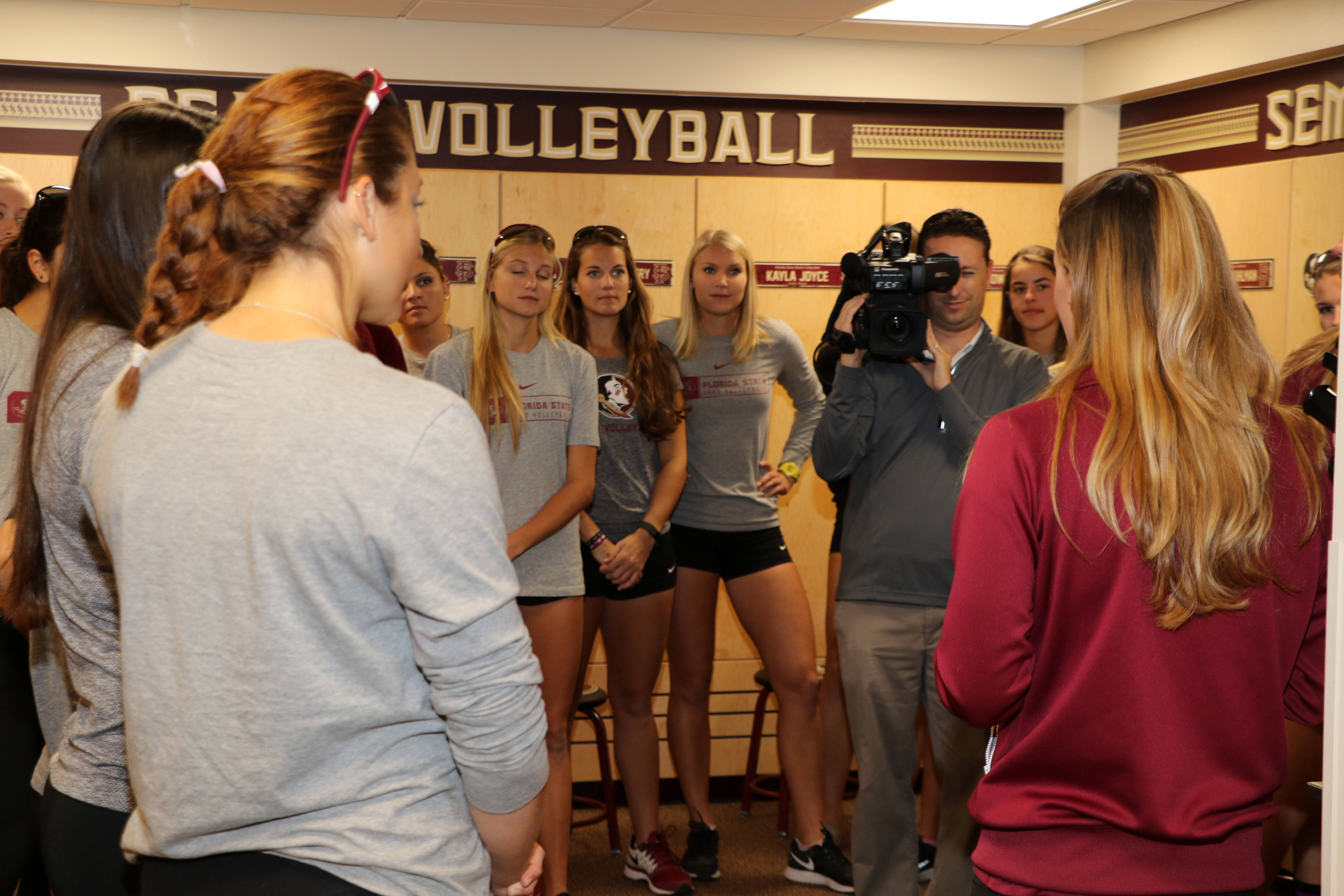 Unveiling of the Beach Volleyball locker room