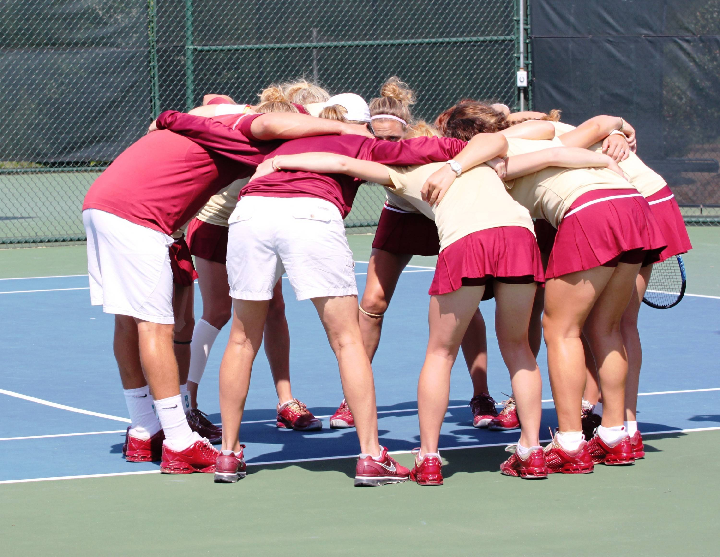 Huddle before the match.