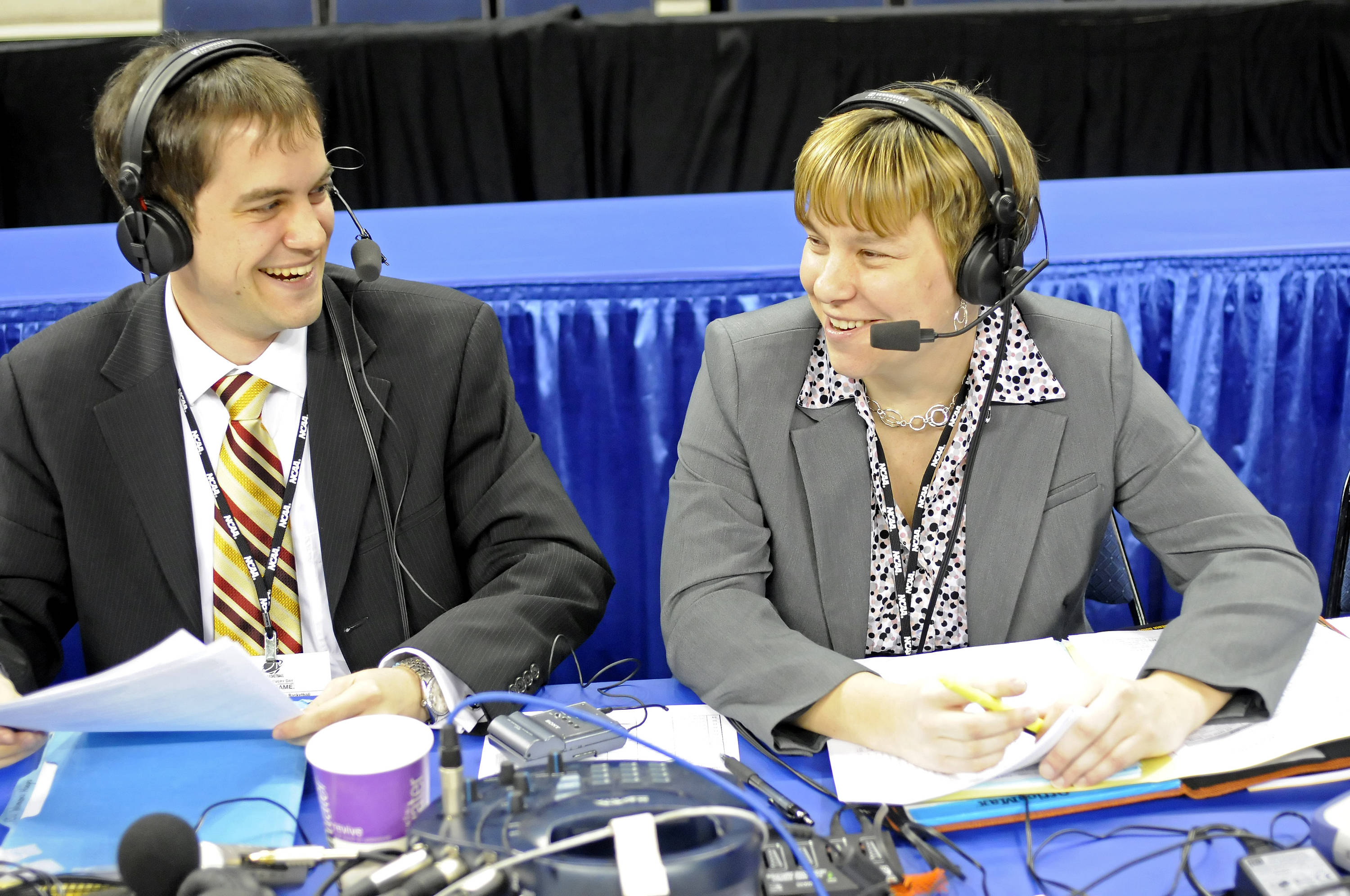 Sept. 11 ... Ryan Pensy and Melissa Bruner call all the action for the radio broadcast at every women's basketball game both on the road and at home.