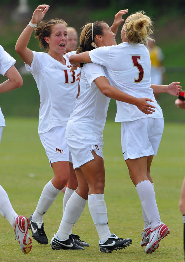 Seminole celebrate after a goal