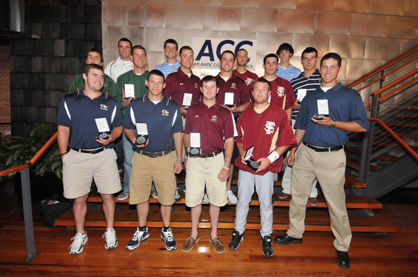 The 2009 All-ACC Second Team (pictured from Florida State - Jason Stidham, Stephen Cardullo and Mike McGee)