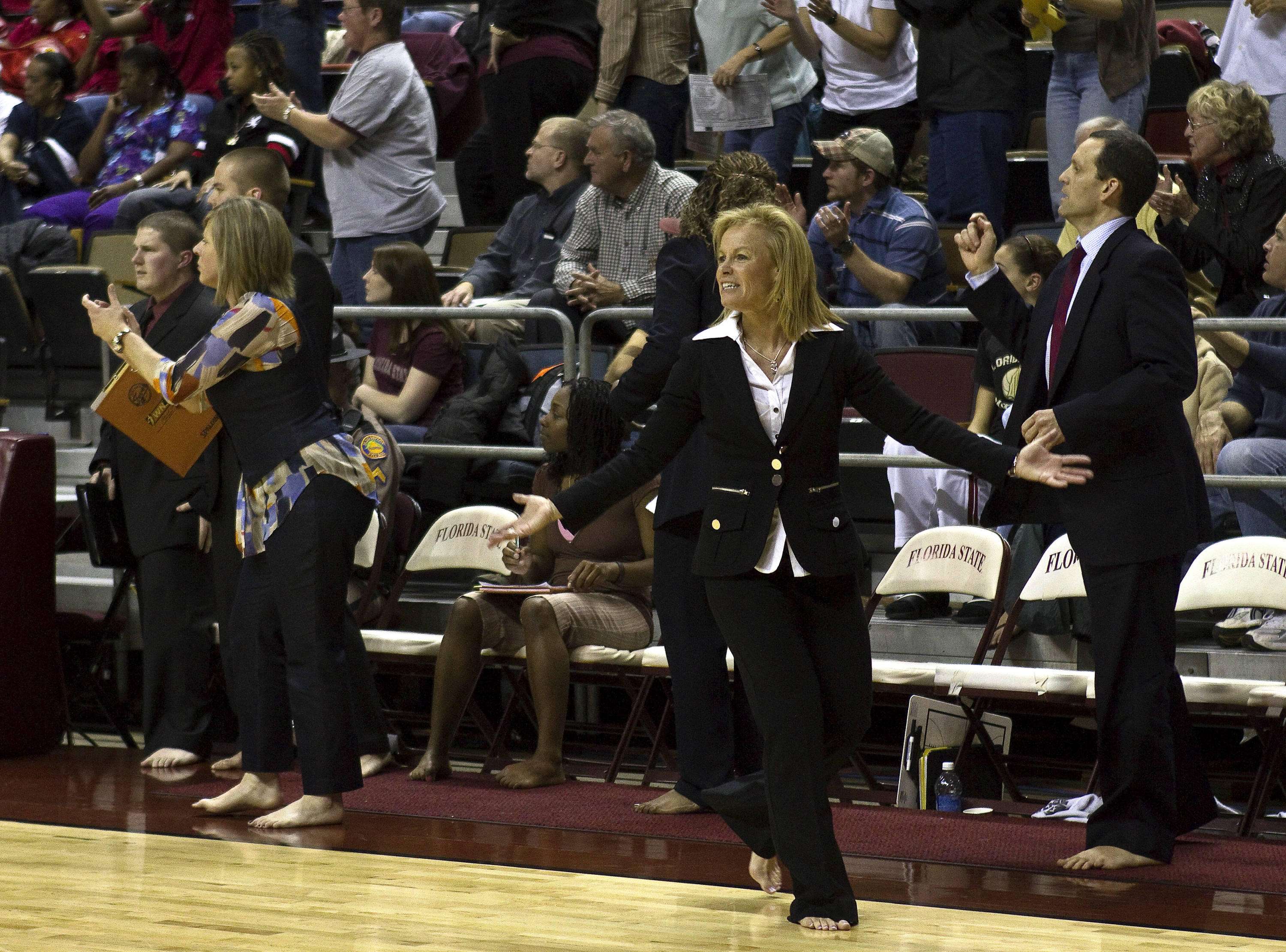 FSU vs Miami - 01/24/11 - Head Coach Sue Semrau, Coach Cori Close, Coach Lance White