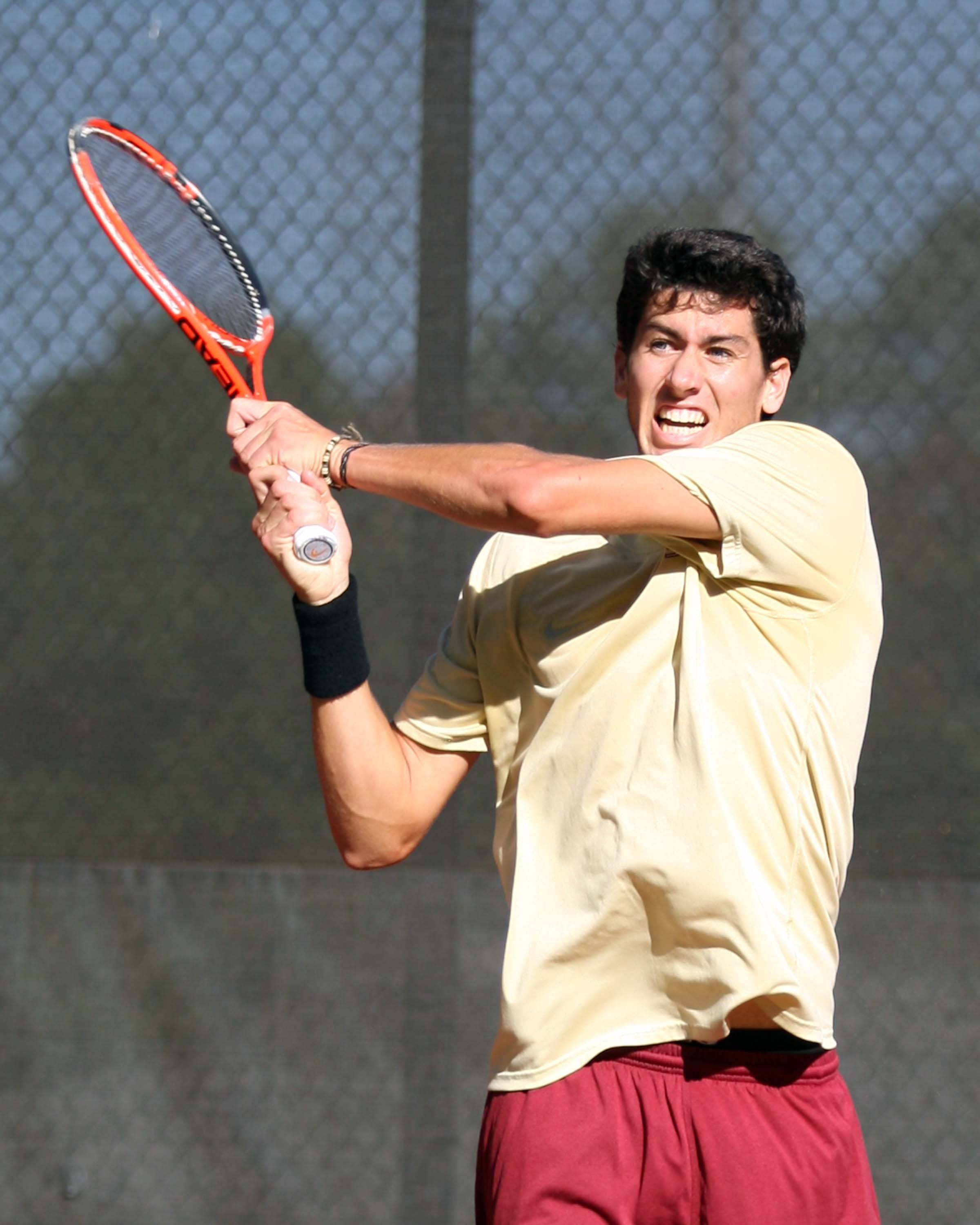 Cristian Gonzalez Mendez at the 2011 ITA Southeast Regionals in Athens, Ga.