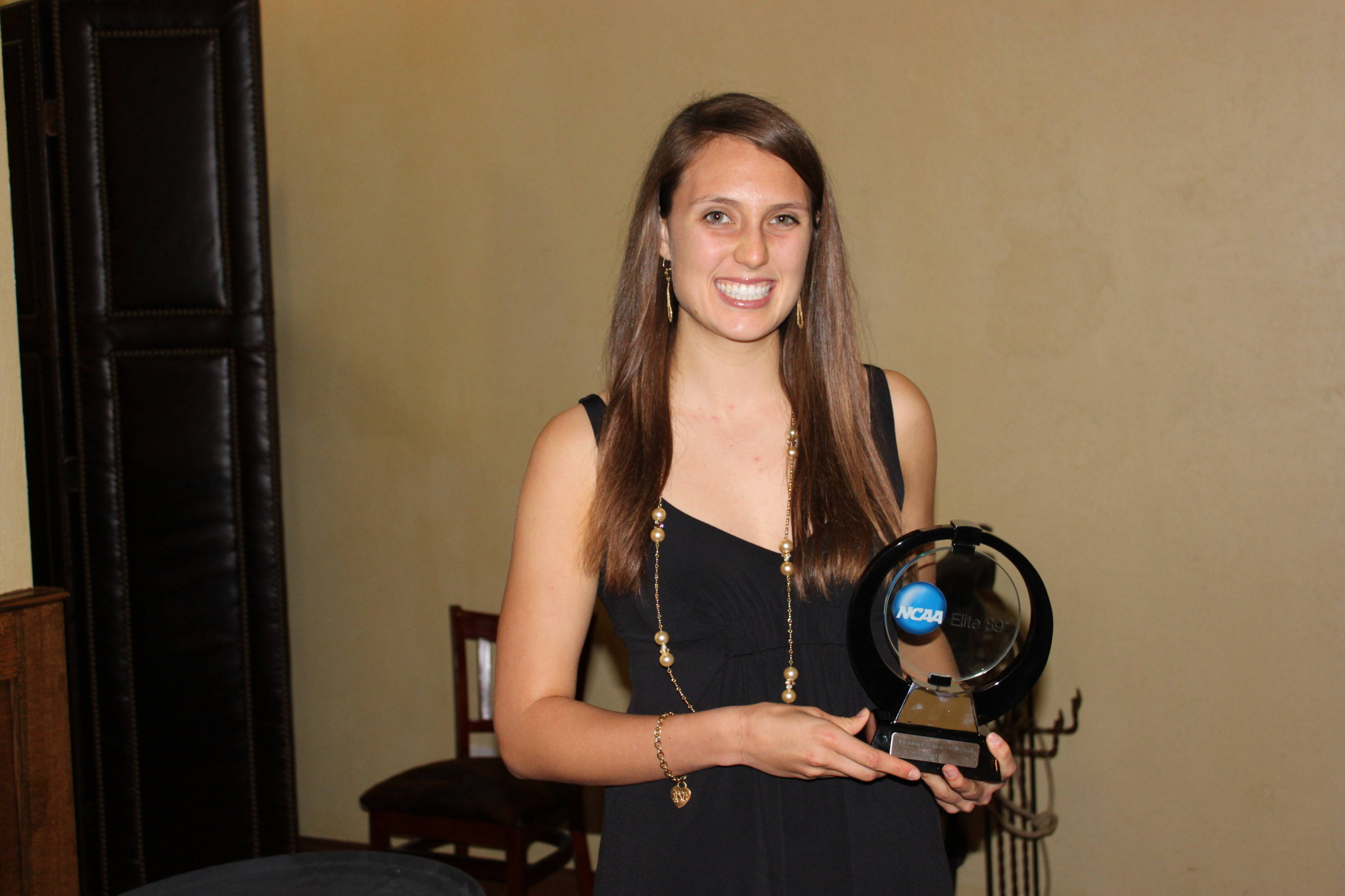 Amanda Saxton after winning the Elite 89 award.