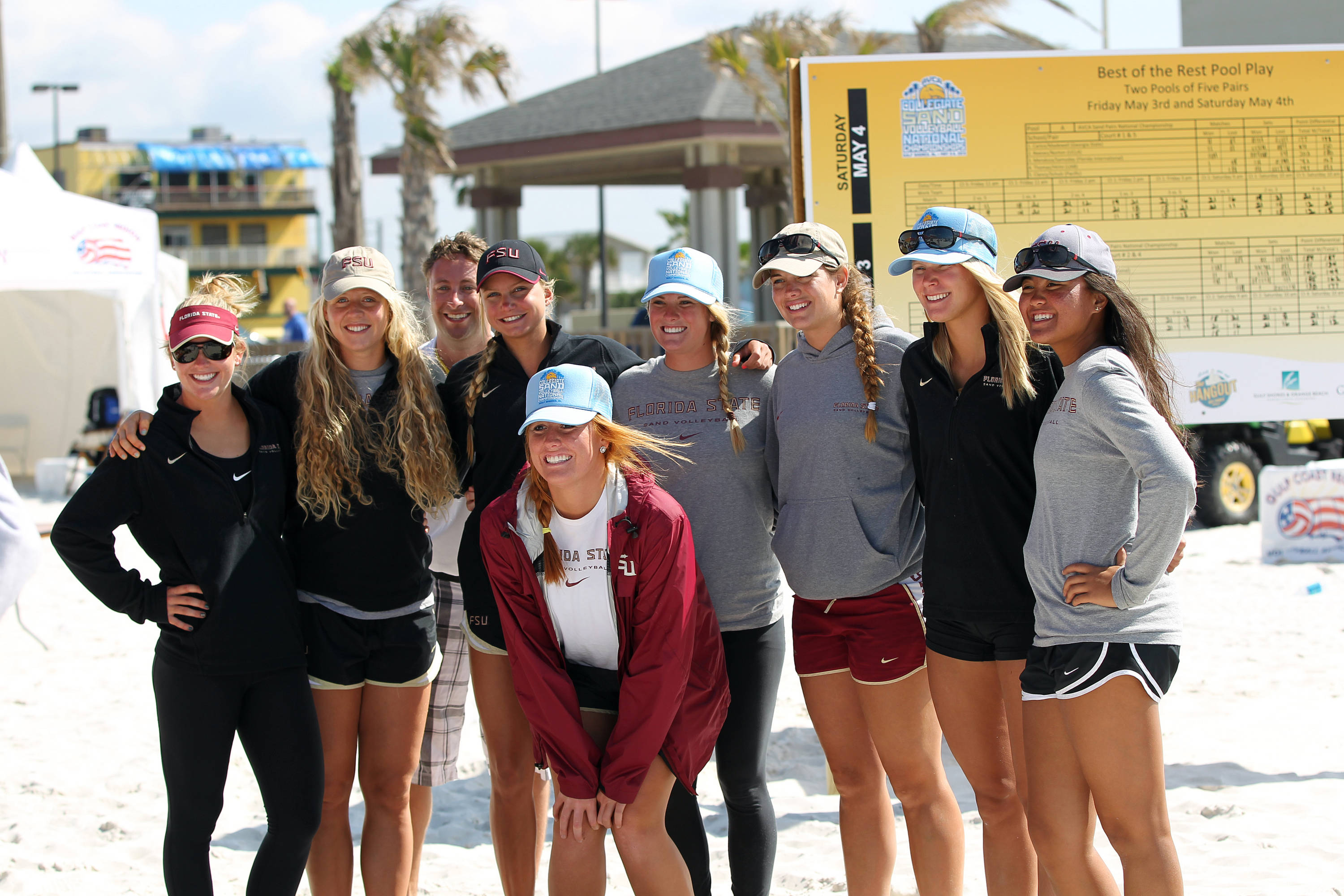AVCA Collegiate Sand Volleyball National  Championships - Pairs,  Gulf Shores, Alabama, 05/05/13 . (Photo by Steve Musco)