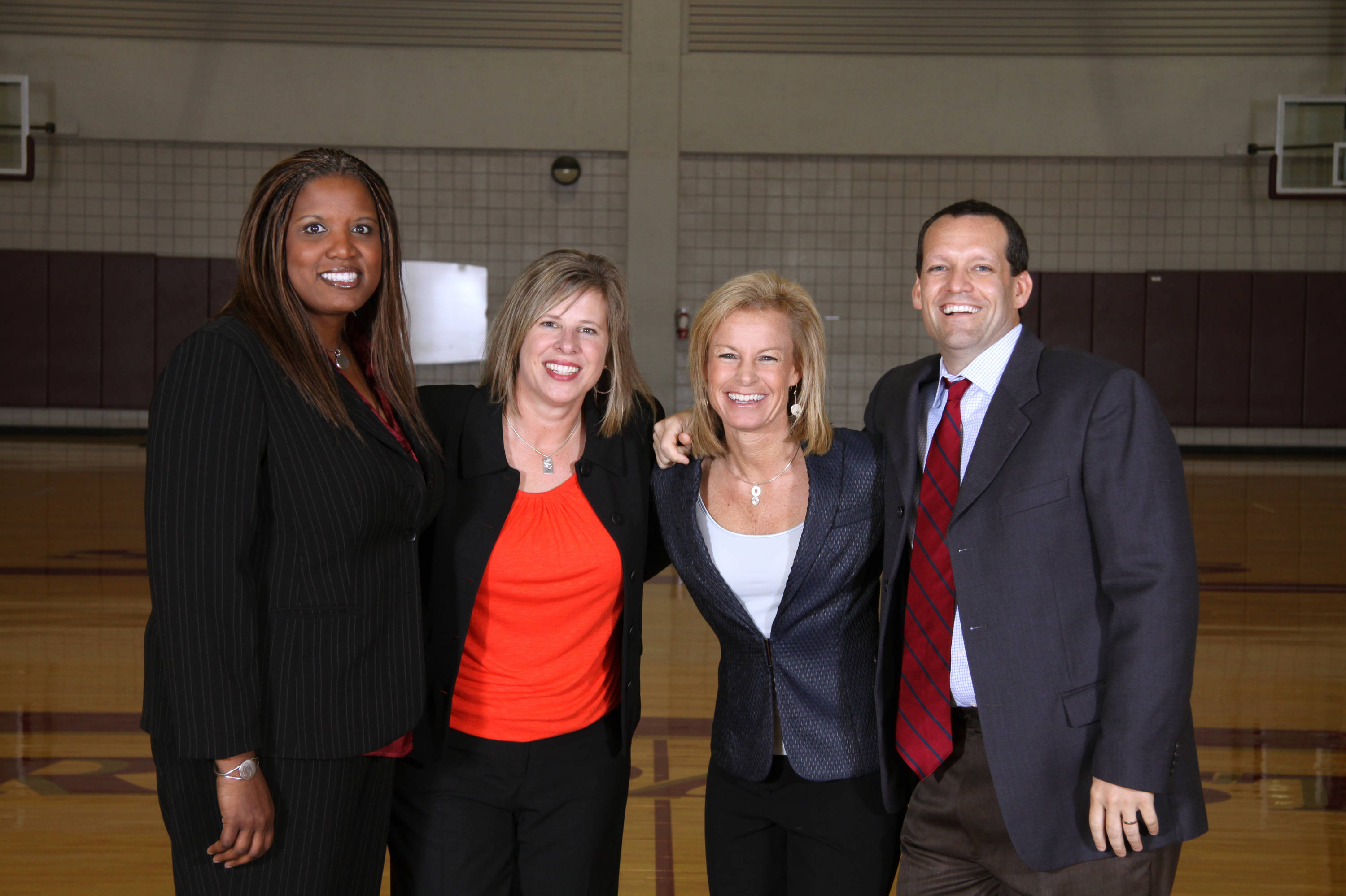 Sept. 23 ... The 2010-11 Florida State coaching staff: Angie Johnson, Cori Close, Sue Semrau and Lance White.