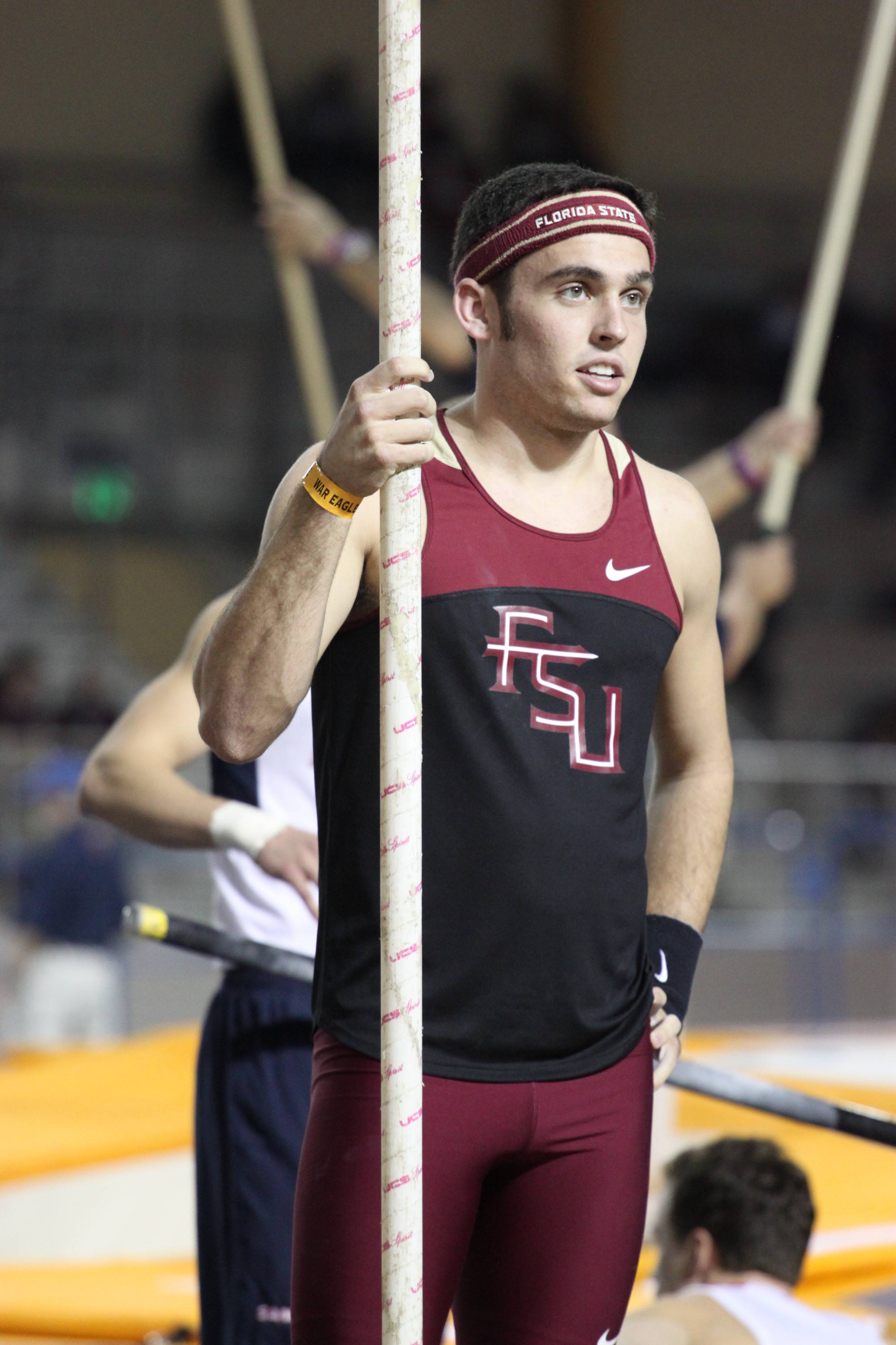 Pole vaulter John Kennedy posted a career-best vault of 4.75m (15-7).