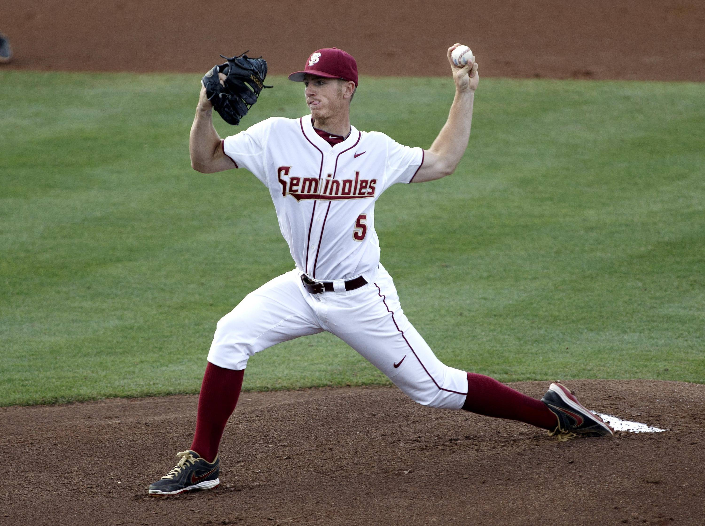 Florida State starting pitcher Billy Strode