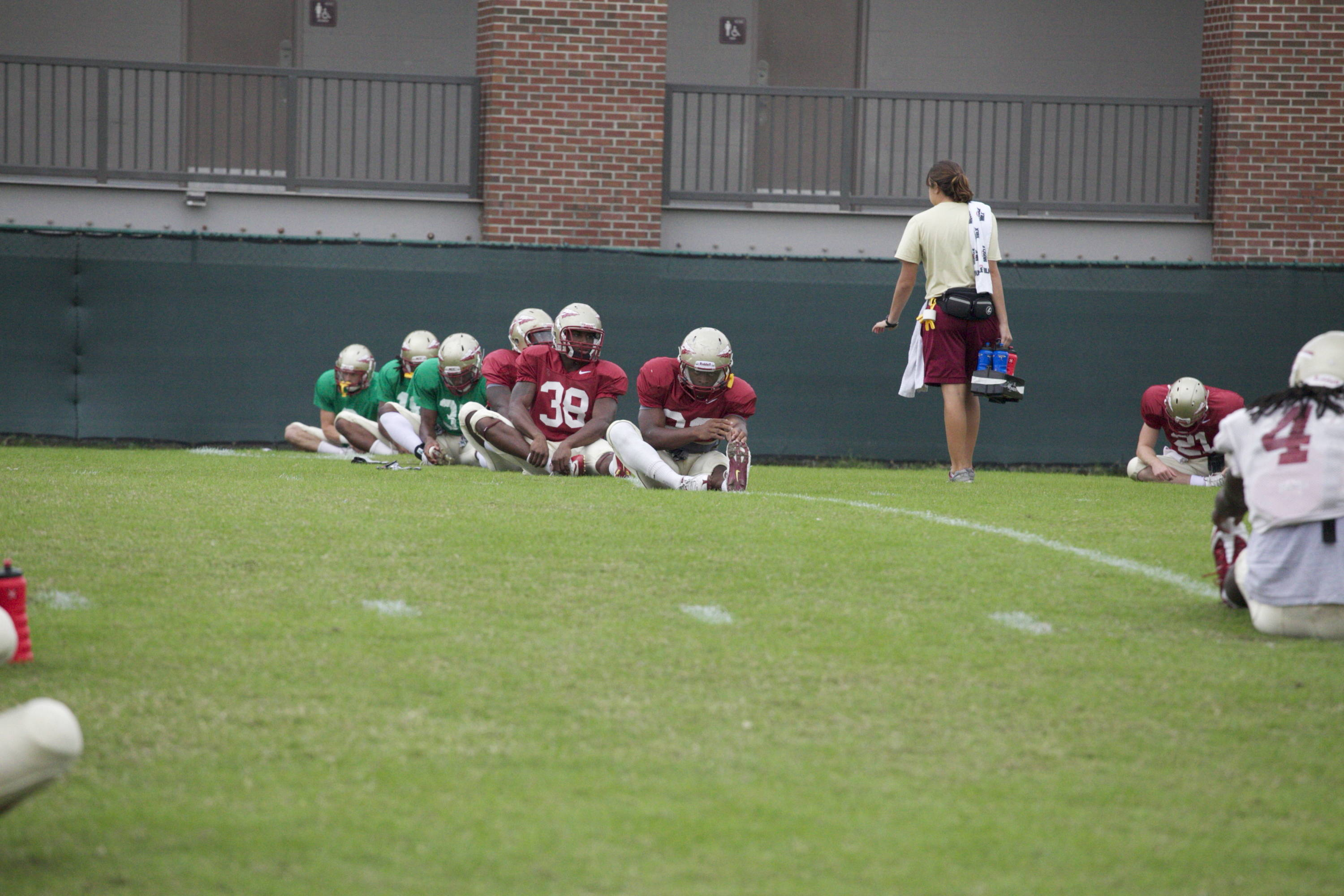 Stretching before practice