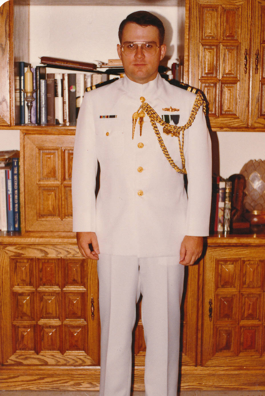 William Austin, father Kirstin, served in the U.S. Navy for several years.