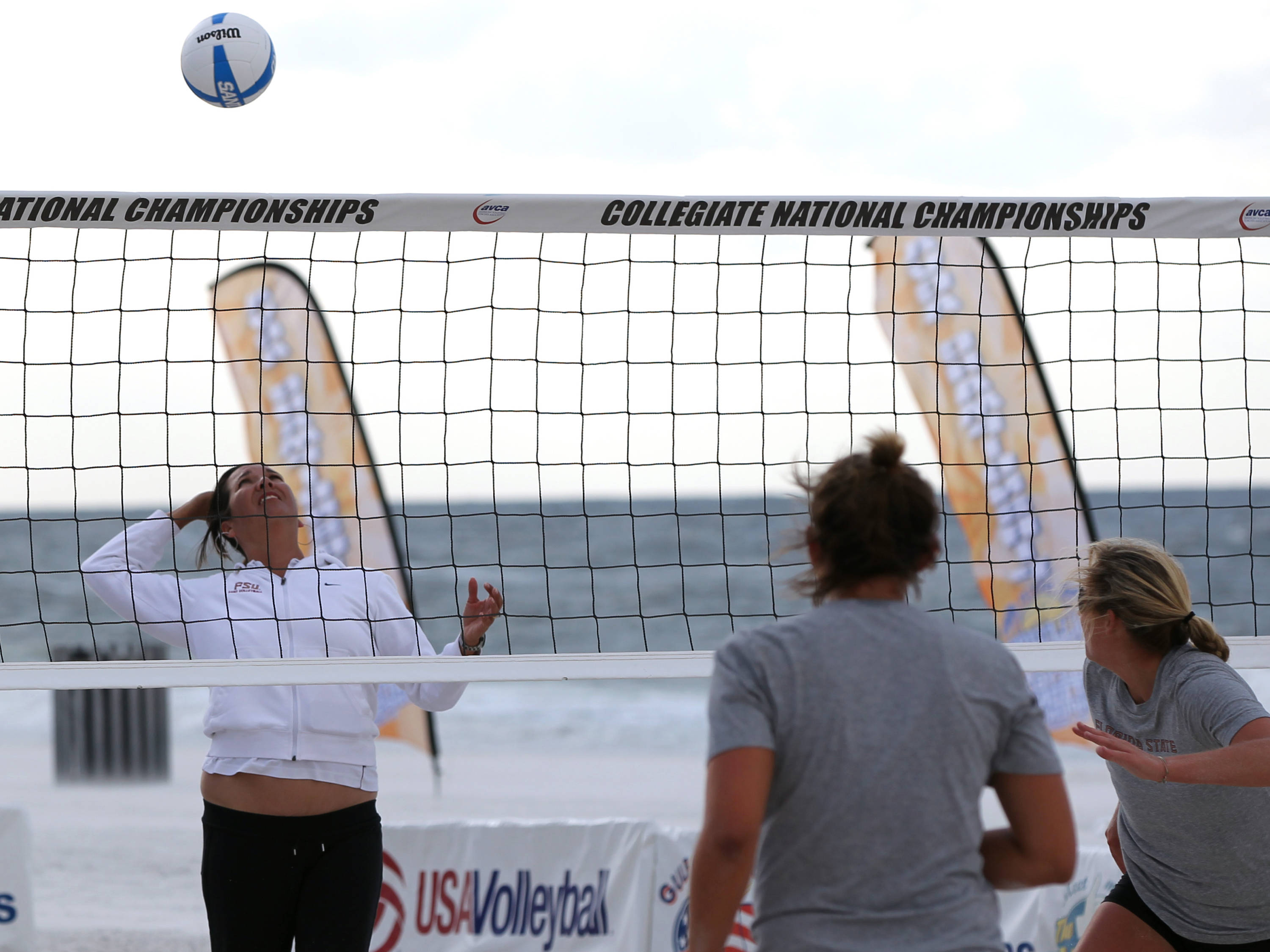 Head Coach Danalee Corso, AVCA Collegiate Sand Volleyball National  Championships - Pairs,  Gulf Shores, Alabama, 05/05/13 . (Photo by Steve Musco)