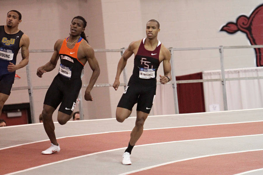 Maurice Mitchell in the 200m qualifying heats.
