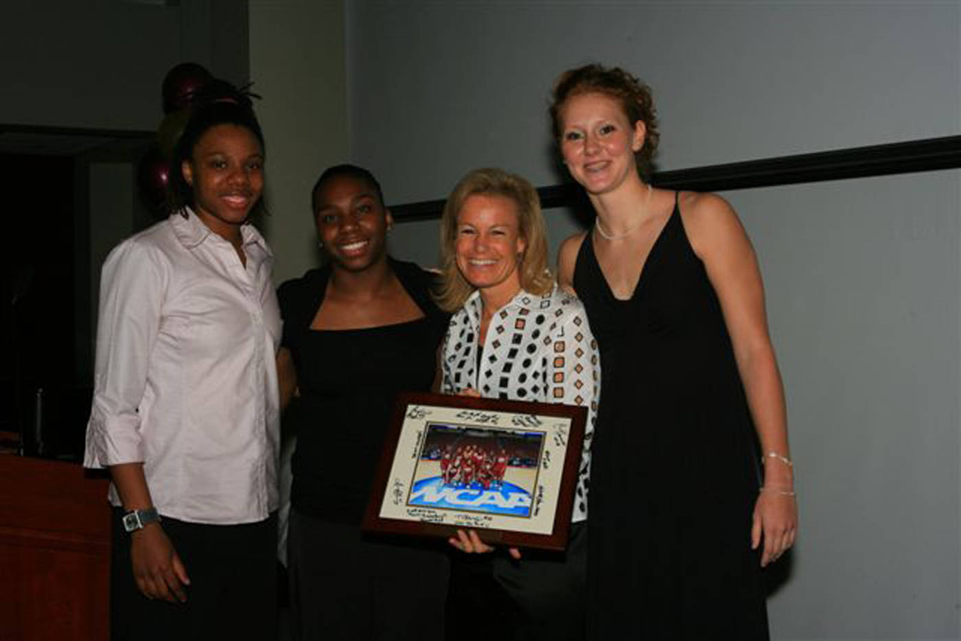 Captains' Award Winners Tanae Davis-Cain, Shante Williams and Mara Freshour