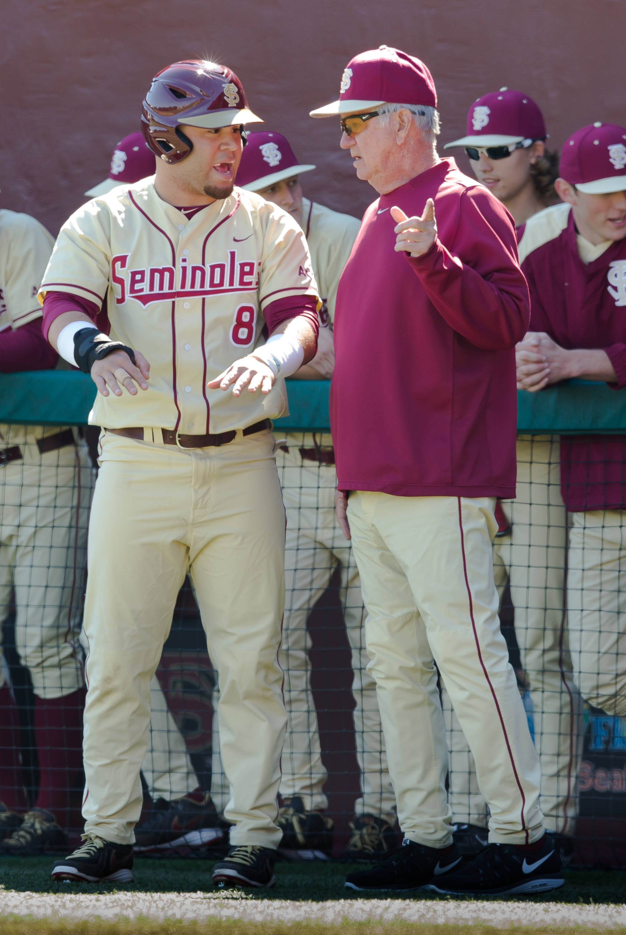 DJ Stewart (8) with Coach Mike Martin (11)