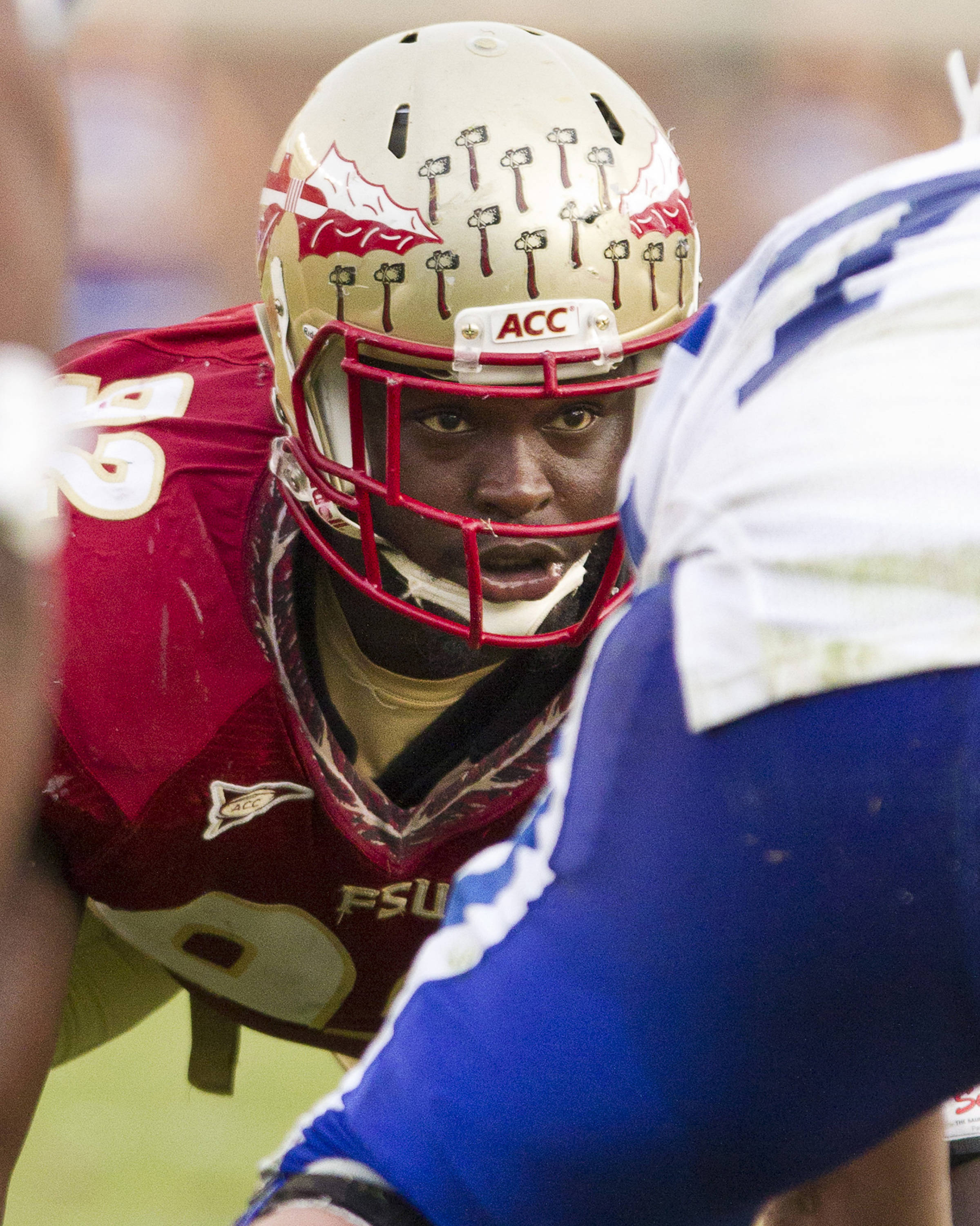 Anthony McCloud (92) lines up during FSU's 48-7 victory over Duke on October 27, 2012 in Tallahassee, Fla.