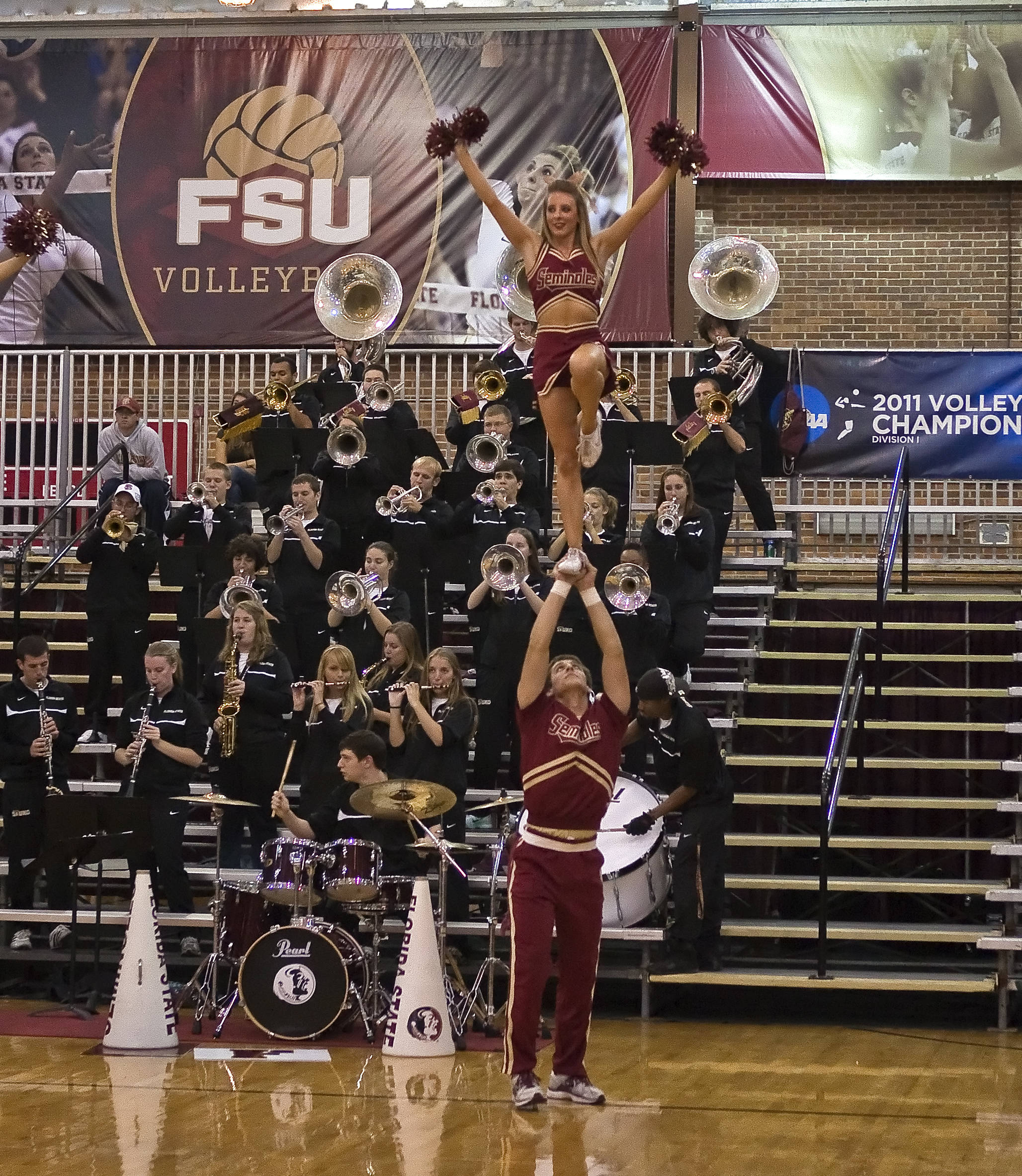 Cheerleaders and Seminole Sound, FSU vs Cincinnati, 12/03/2011
