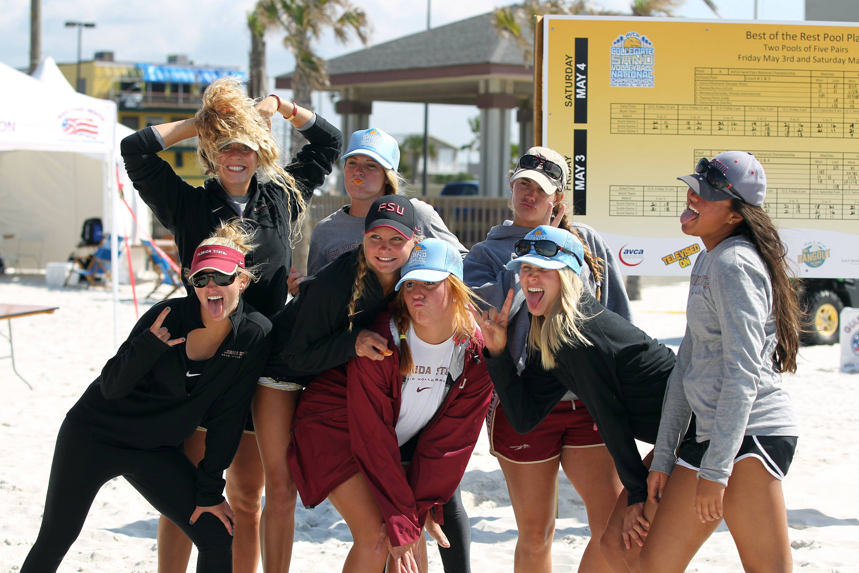 What stress !!!!!, AVCA Collegiate Sand Volleyball National  Championships - Pairs,  Gulf Shores, Alabama, 05/05/13 . (Photo by Steve Musco)