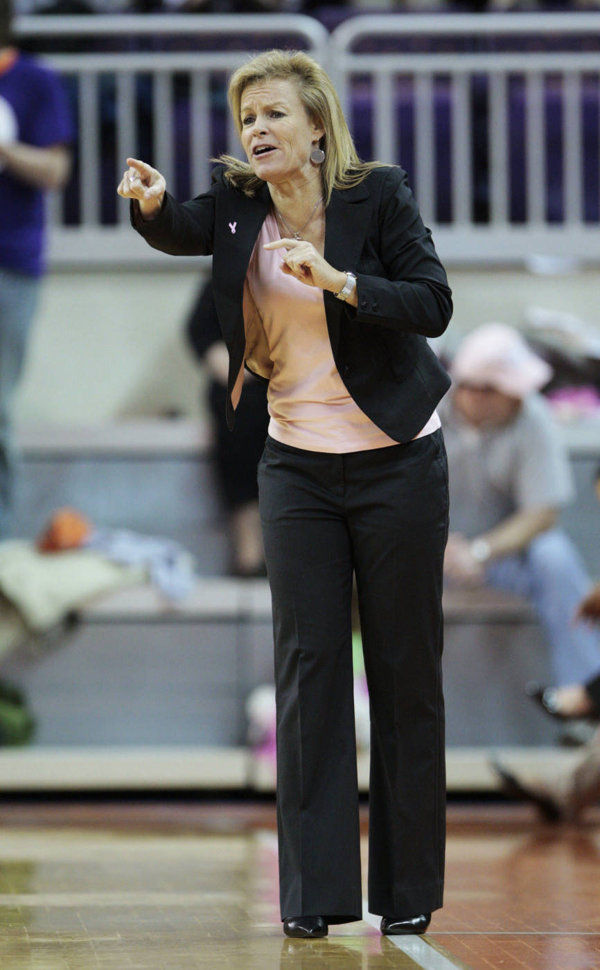 Florida State coach Sue Semrau shouts instructions to her team during the 75-58 win over Clemson in Clemson, S.C., Thursday, Feb. 19, 2009. (AP Photo/Patrick Collard)